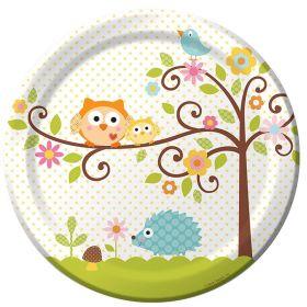 Happi Tree Plates 23cm, pk8