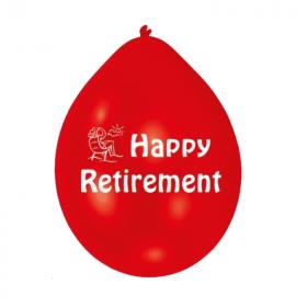"Happy Retirement Latex Balloons 9"", pk10"