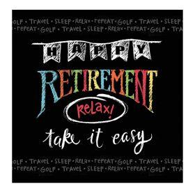 Happy Retirement Chalk Napkins