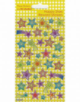 Happy Stars Reward Reusable Foil Sticker Sheet