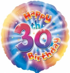 Happy 30th Birthday Circle Foil Balloon