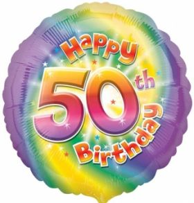 Happy 50th Birthday Circle Foil Balloon