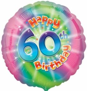 Happy 60th Birthday Circle Foil Balloon