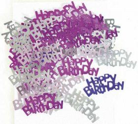Pink Glitz Happy Birthday Party Confetti