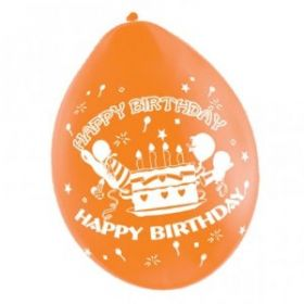 Happy Birthday Assorted Balloons 10pk