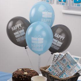 Happy Birthday Blue Balloons pk8