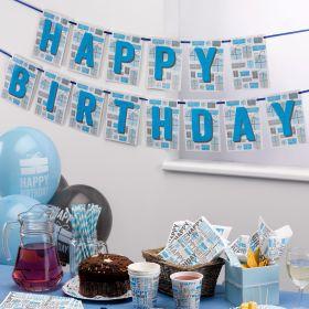 Happy Birthday Blue Bunting