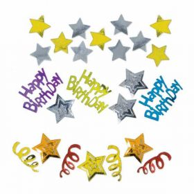 Happy Birthday Stars Confetti, Triple Pack, 31g