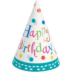 Confetti Cake Birthday Party Hat pk8