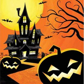 Haunted Night Napkins, pk16