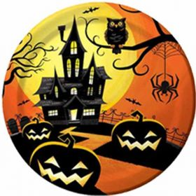 "Haunted Night 9"" Plates, pk8"