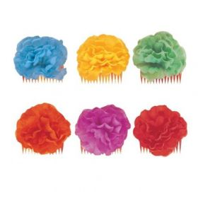 Hawaiian Floral Hair Comb Assorted Colours, One Supplied
