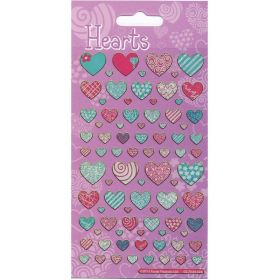 Hearts Foil Stickers