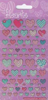 Hearts Re-usable Stickers