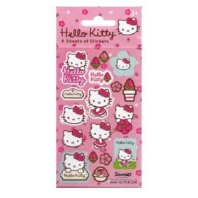 Hello Kitty Party Bag Stickers, pk6