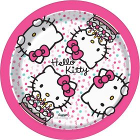 Hello Kitty Plates pk8 23cm