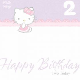 Hello Kitty Age 2 Birthday Card