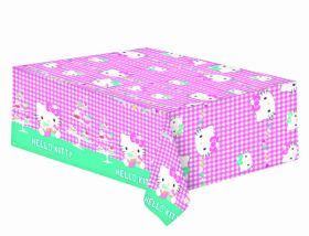 Hello Kitty Pink and Teal Party Tablecover