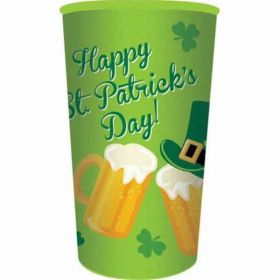 St. Patrick's Day Large Printed Plastic Cup