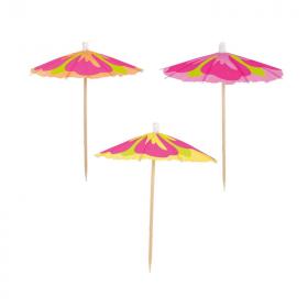 Hibiscus Parasol Picks, pk10