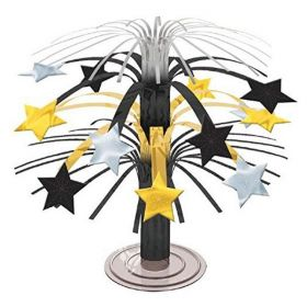 Hollywood Black & Gold Stars Cascade Centrepiece