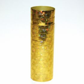 Holographic Gold Serpentine Roll  (18 Throws Per Roll)