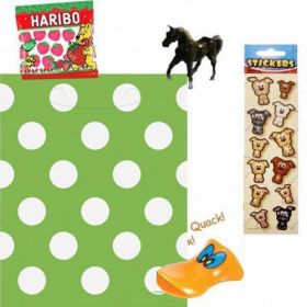 Green Polka Dot Pre Filled Party Bags (no.1), one supplied