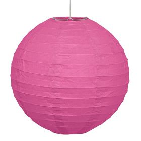 Hot Pink  Round Lantern Party Decoration 25cm
