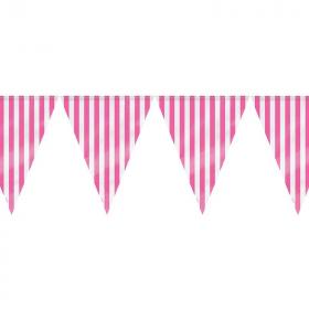 Hot Pink Stripe Flag Banner 3.65m