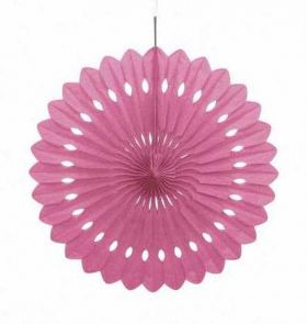 Decorative Fan Hot Pink Party Decoration 16""