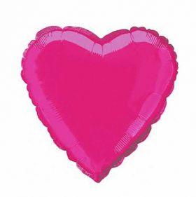 Fuchsia Heart Foil Balloon