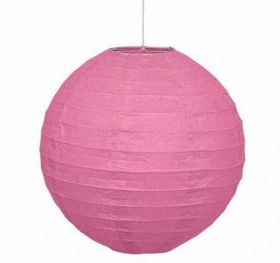 Round Lantern Hot Pink Party Decoration 10""