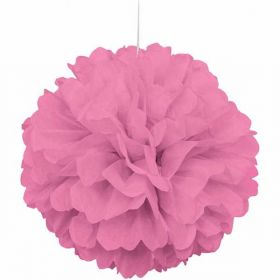 Hot Pink Paper Puff Ball Hanging Party Decoration