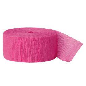 Hot Pink Crepe Streamer