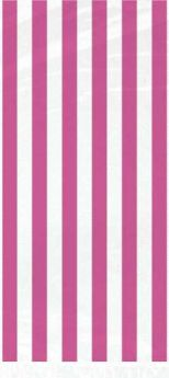 Hot Pink Stripe Cello Bags