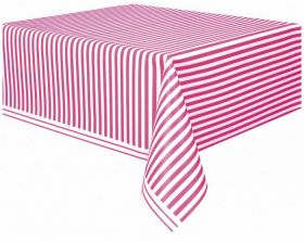 Hot Pink Stripe Tablecover