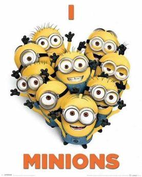 I Love Minions Mini Poster
