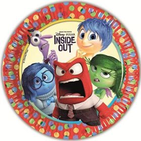 Inside Out Party Plates 23cm, pk8