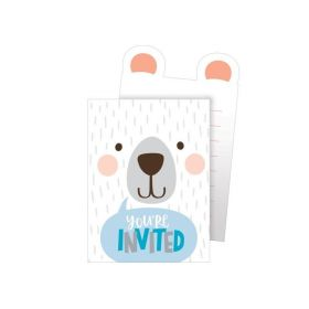Birthday Bear Pop-Up Invitations, pk8
