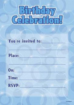 Prismatic Star Adult Birthday Party Invitations 95