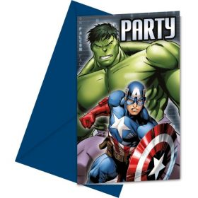 Avengers Multi Heroes Party Invites pk6