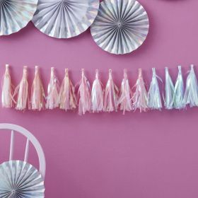 Iridescent Party Tassel Garland