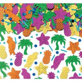Island Party Embossed Metallic Mix Confetti
