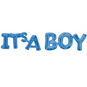 "Blue ""It's a Boy"" Phrase Balloon 20"" x 9"""