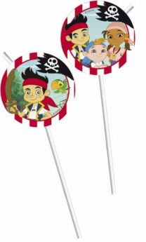 Jake & the Neverlands Pirates Party Straws 6pk