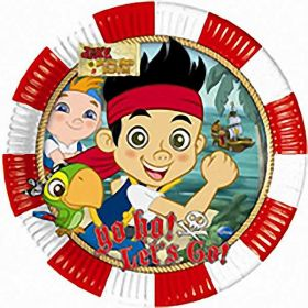 Jake Yo Ho Pirates Paper Party Plates 8pk