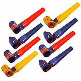 Jazz Party Blowouts, pack of 8