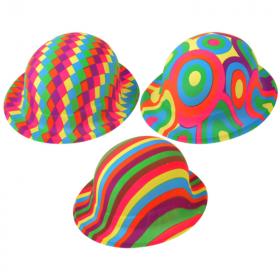 Plastic Jazzy Bowler Hat