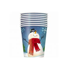 Joyful Snowman Party Cups
