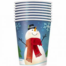Joyful Snowman Christmas Party Cups